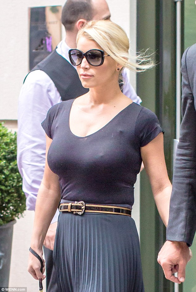 Amply Charmed Jessica Simpson Dons Ultra Sheer Top With