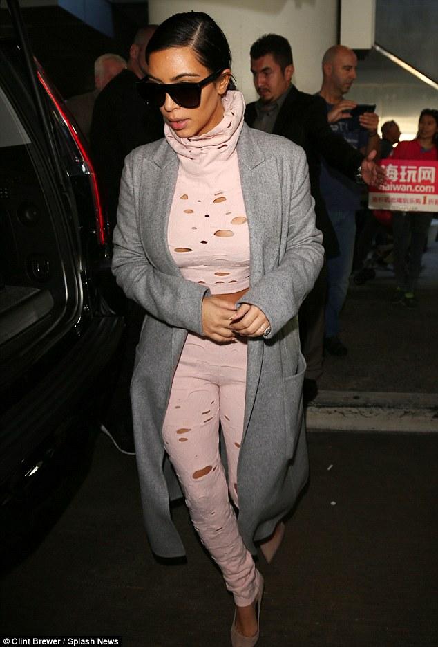 Kim Kardashian in LA wearing Chanel with daughter North