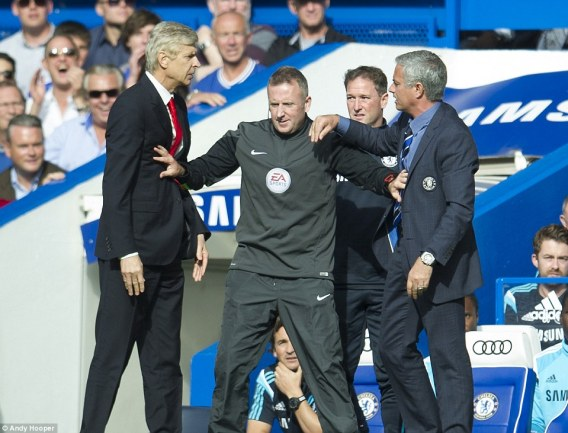 In footballing terms the Chelsea manager is on top of the managers' feud, remaining unbeaten by Wenger in all competitions after 12 attempts