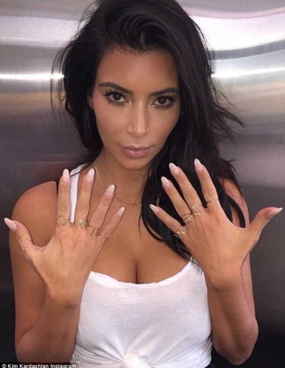 My favourite girl: Kim Kardashian took off her wedding and engagement rings