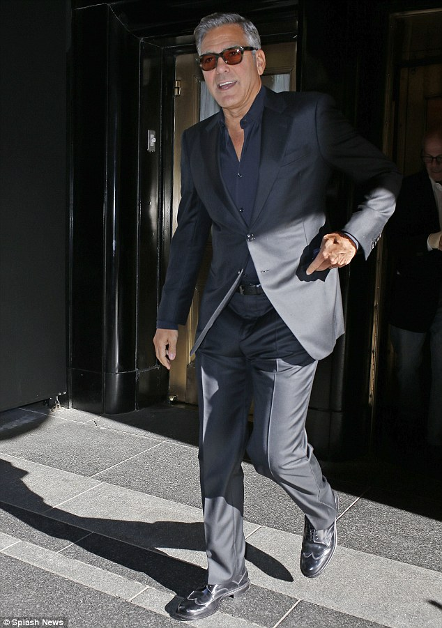 George Clooney In Fine Form As He Steps Out In New York