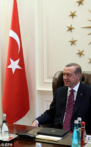'Deal with them jointly': The Turkish president, Recep Tayyip Erdogan, has made it plain he sees no moral difference between the Kurds in Kobane and IS