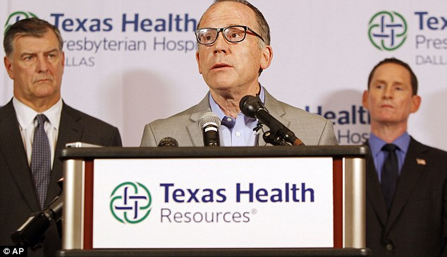 Texas Health Presbyterian Hospital Chief Clinical Officer Dr. Daniel Varga answers questions about the health care worker