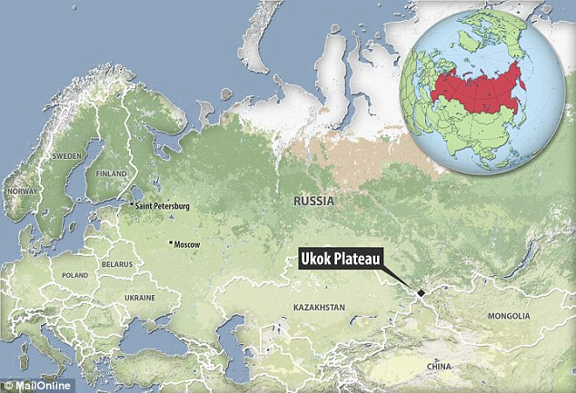 The remains were unearthed almost 20 years ago in the Ukok Plateau in Russia (pictured)