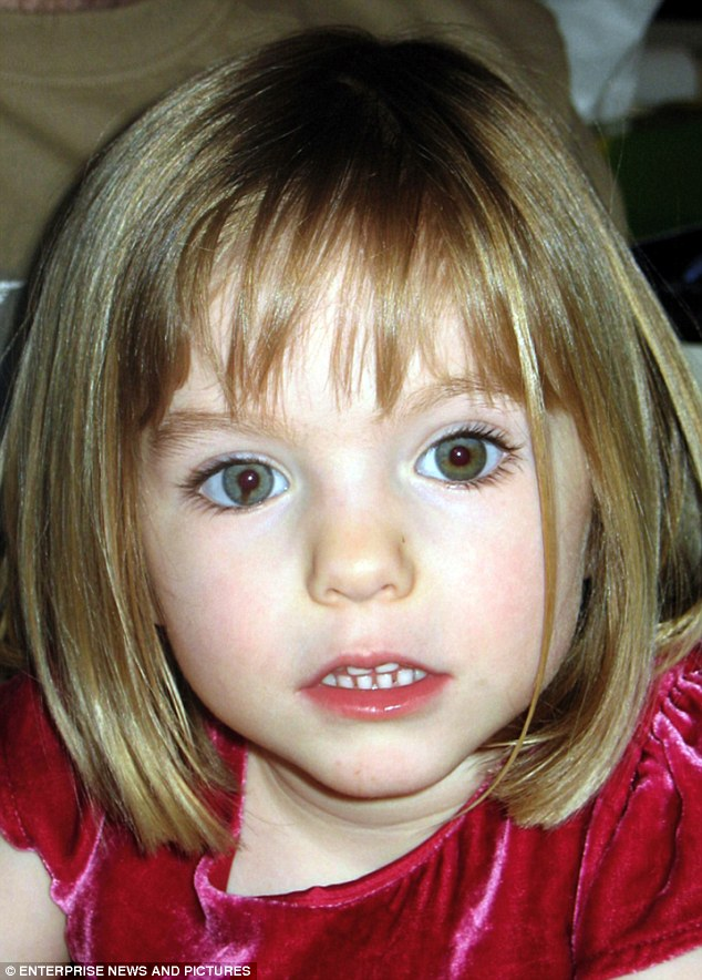 On the run: Serial paedophile Roderick William Robinson molested two Australian girls aged under ten years old in the late 1980s, and has reportedly been on the run for almost 20 years before Madeleine McCann (pictured) was abducted in Portugal in 2007