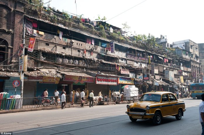 Though there is a business centre in Calcutta, India, the city has many slums. Efforts to clean them up have been thwarted by residents who do not want to leave