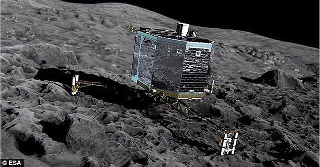 The daring descent Philae  (artist's impression shown) will take seven hours from separation. It will be exactly nine years that a similar landing attempt on an asteroid by Japan's Hayabusa failed in 2005