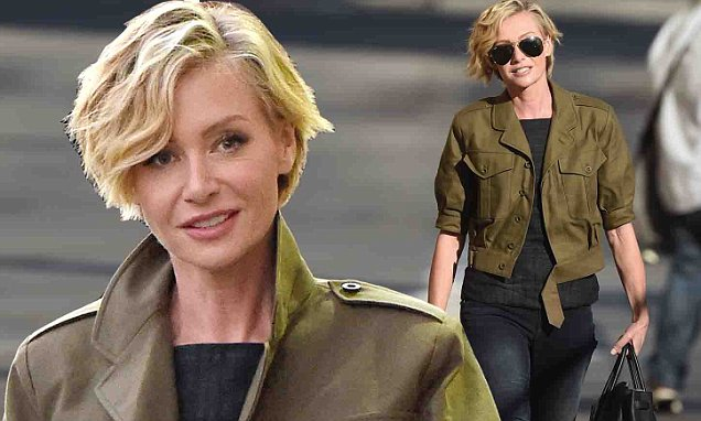 Portia De Rossi Cuts A Stylish Figure In Skinny Jeans And