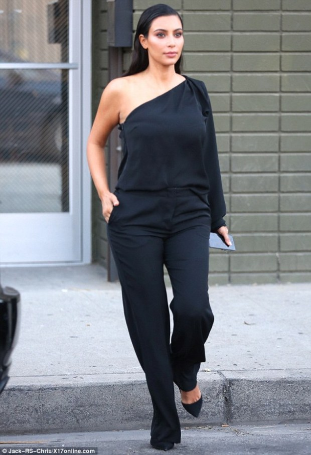 Getting prepared: The day before, Kim tweeted that she was heading to the tanning salon, and suggested the shoot could have been for the family tanning product range, Kardashian Glow