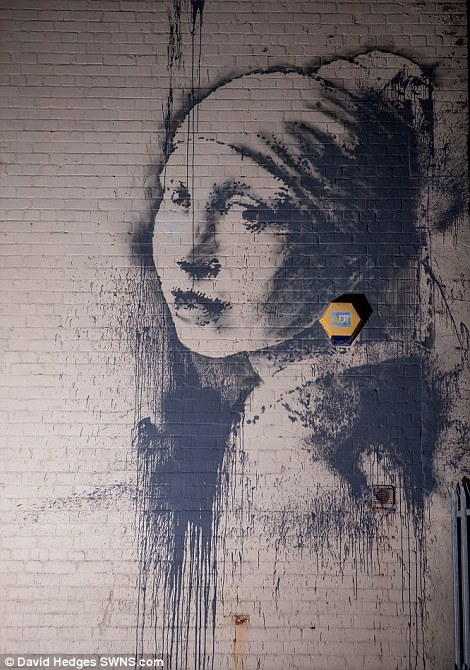 Banksys Version Of Girl With A Pearl Earring Appears On