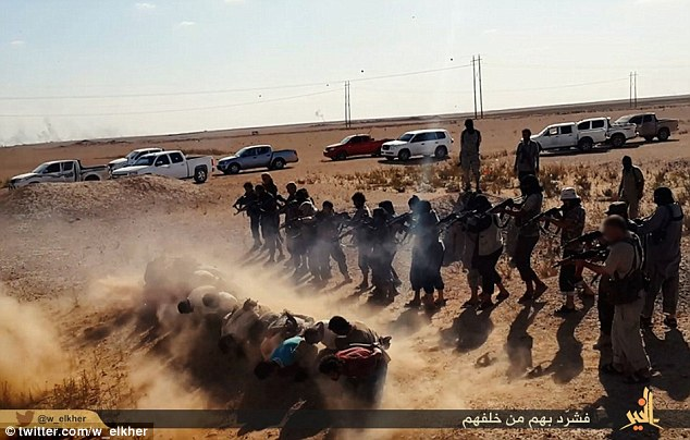 Brutal: Last week the UN confirmed that thousands of Yazidis were slaughtered in scenes reminiscent of the Bosnian Srebrenica massacre when ISIS swept through northern Iraq in August