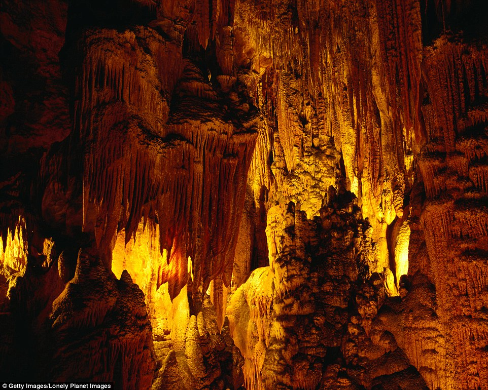The stalagmites and stalactites inside King Solomons Cave are another attraction for Tassie visitors