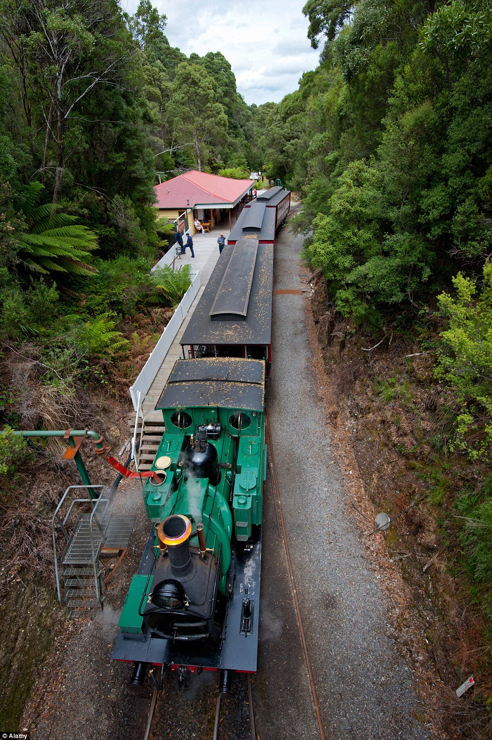 One of Tasmania's top tourist destinations is the world's steepest railway - the west coast wilderness railway