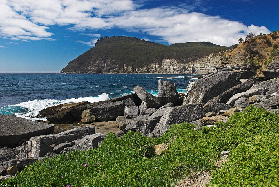 The bay at Bishop Mountain, in Maria Island National Park, Tasmania, is a natural beauty