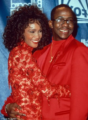 The way they were: Whitney Houston and Bobby Brown had a tumultuous marriage but her manager Clive Davis has insisted he doesn't blame the bad boy for her troubles and death