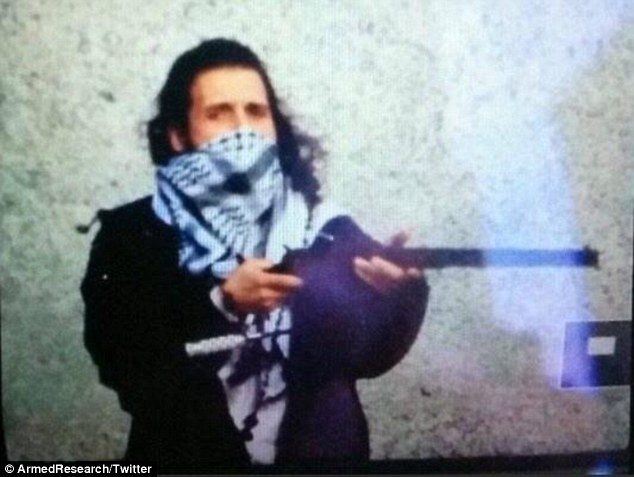 Gunman: Michael Zehaf-Bibeau (allegedly pictured above) has been named as the Muslim convert who shot dead Corporal Nathan Cirillo and opened fire on the Canadian Parliament