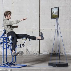 Posture Mate Geri Chair French Style Dining Chairs Exoskeleton Uses Body Movements To Control An On Screen The Dynamic Pictured Was Created By Designer Govert Flint From Eindhoven University