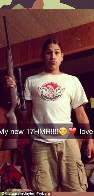 Three months ago, he shared this image of himself showing of his new rifle