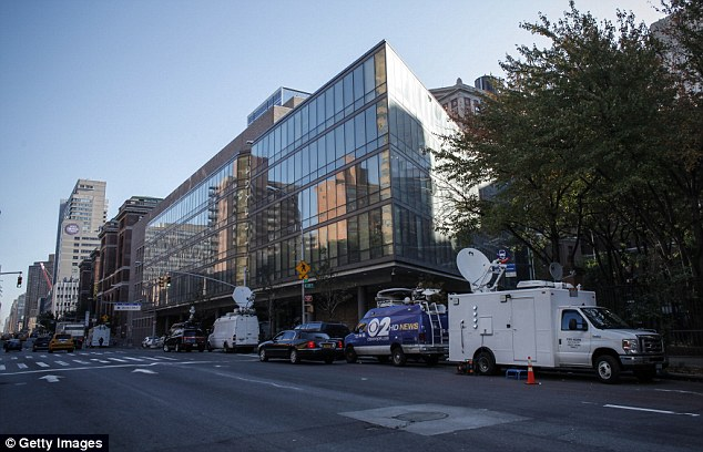 Denial: Bellevue Hospital Center (pictured), where Ebola victim Dr Craig Spencer is being treated, has denied claims that hoards of health workers have called in sick out of fear of contracting the deadly disease