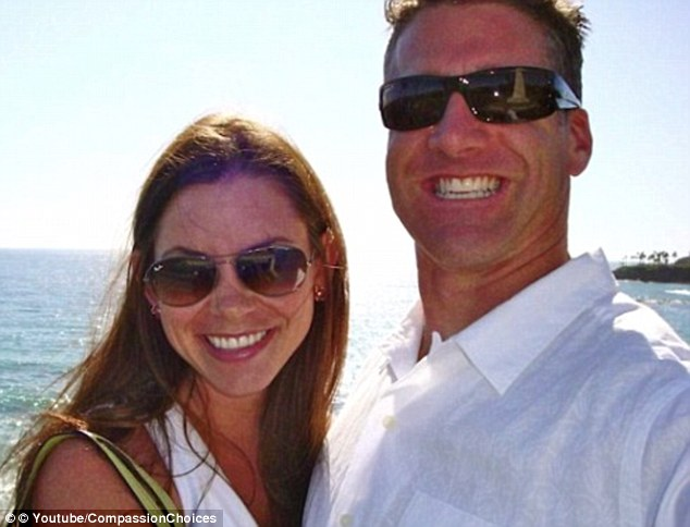 Time cut short: She is pictured with her husband, Dan. He said he is devastated he cannot spend the rest of his life with her, but understands she wants quality of life over quantity
