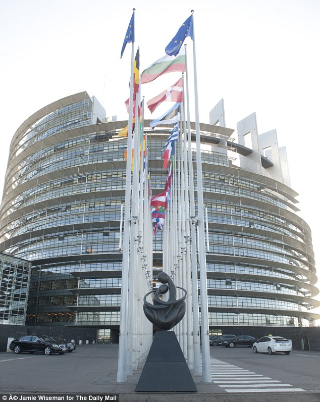 The European Parliament in Strasbourg, which funds the Europe of Freedom and Direct Democracy group