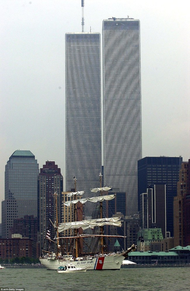 The twin towers of the World Trade Center (pictured in 2000) in New York which were destroyed during the 9/11 attacks in 2001