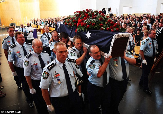 At officer Anderson's 2012 funeral, NSW Police Commissioner Andrew Scipione said the decorated officer was greatly admired by his fellow officers