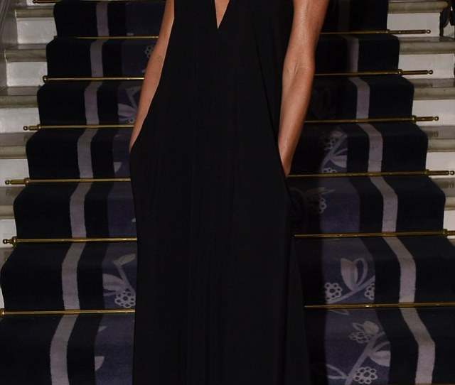 Making An Entrance Victoria Beckham Looked Stunning As Ever In One Of Her Own Designs