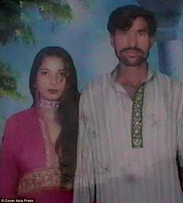 Shama Bibi (left) and her husband Shehzad Masih, who were both Christians, were murdered in Pakistan after a mob accused them of desecrating a copy of the Koran