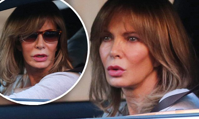 Jaclyn Smith shows off her flawless complexion driving through Beverly Hills  Daily Mail Online