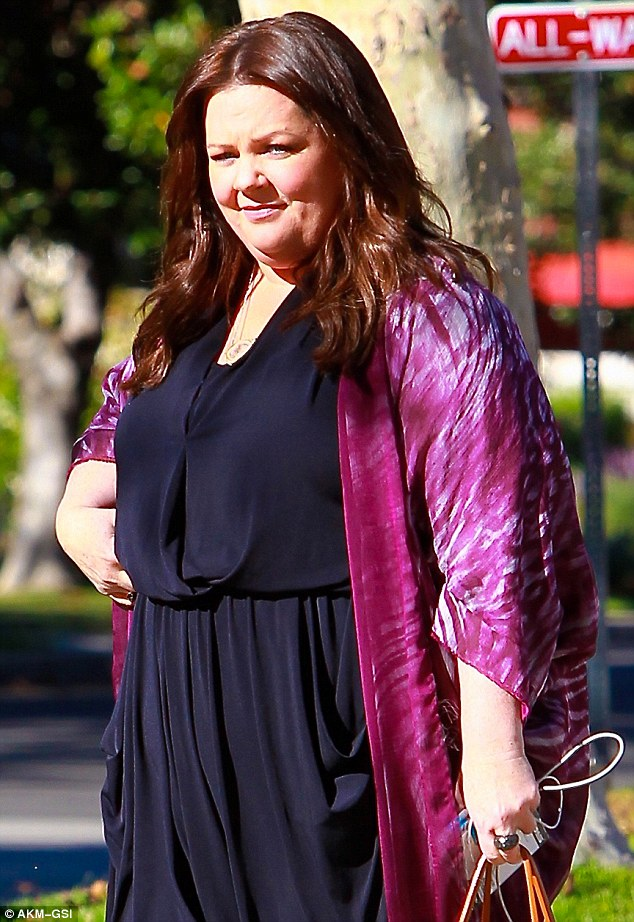 Melissa McCarthy Steps Out In A Black Jumpsuit And Pink