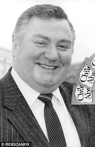 Former Tory MP Geoffrey Dickens (pictured), who died in 1995, said he gave details of Establishment paedophiles – known as 'Dickens dossier' – to then Home Secretary Leon Brittan in 1983