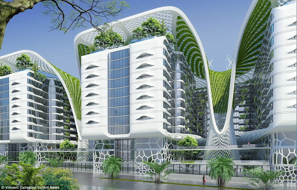 Called The Gate Residence, the project was designed by architect, Vincent Callebaut and will feature geothermal cooling, solar panels, heater tubes and wind turbines. The property will also house 1,000 apartments, offices and even a shopping centre, while the roof will transform into a community garden, swimming pools and a sports area