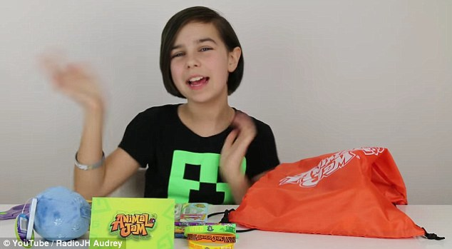 Tween queen: 11-year-old Audrey appeals to a slightly older audience and often reviews toys that are aimed at more mature fans