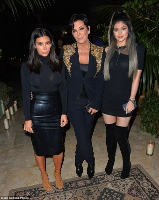 Party time! Kim was joined by mom Kris Jenner and younger sister Kylie Jenner at the bash, which was Powered by Ciroc Pineapple, on Sunday night