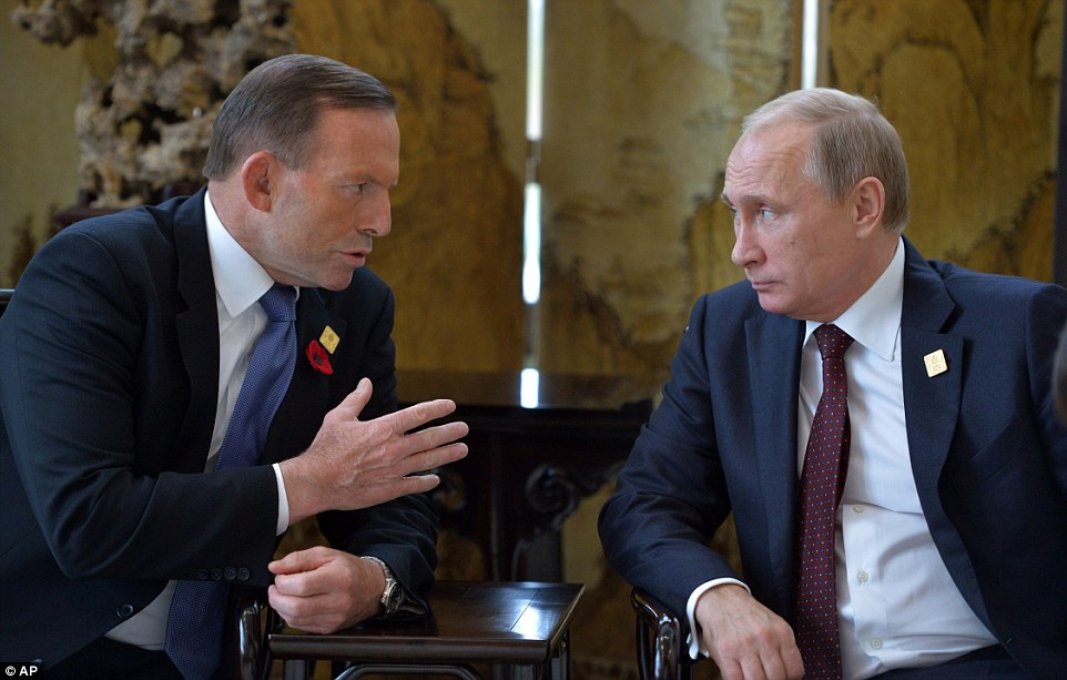Mr Putin's visit to Australia was marred by a series of diplomatic snubs and frostiness from Western leaders, sparking an early exit for the Russian hardman who flew out of Australia on Sunday afternoon, cutting his intended stay short