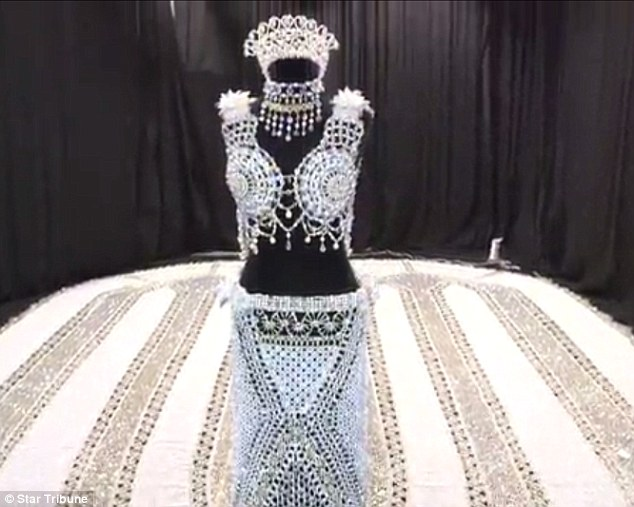 First Glimpse Of The World's Largest Beaded Wedding Gown