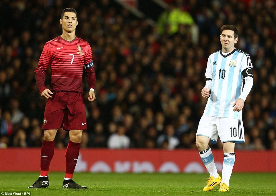 Kết quả hình ảnh cho messi vs ronaldo international