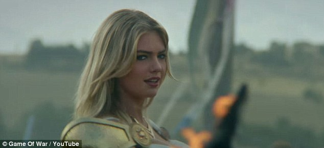 Kate Upton shows off her assets in Game Of War Fire Age