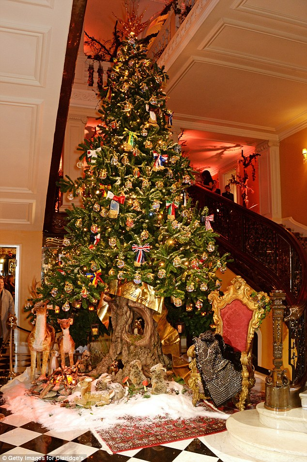 Dolce  Gabbana unveil spectacular christmas tree at Claridges  Daily Mail Online