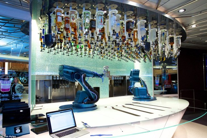 Chief among them is the Bionic Bar - where patrons are served by robotic bartenders