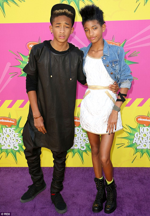 Jaden, 16, and Willow, 14, are home-schooled, which has ensured maximum exposure to their parents