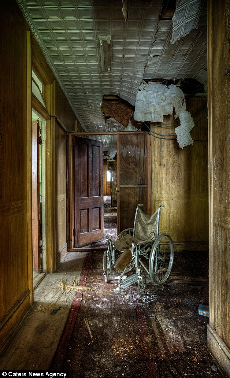wheelchair cab lane office chair photographs reveal eerie abandoned hotels where guests haven't checked in for years | daily mail ...