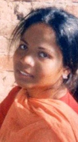Asia Bibi (pictured) has languished in a Pakistani prison cell for five years and is now so weak she cannot walk