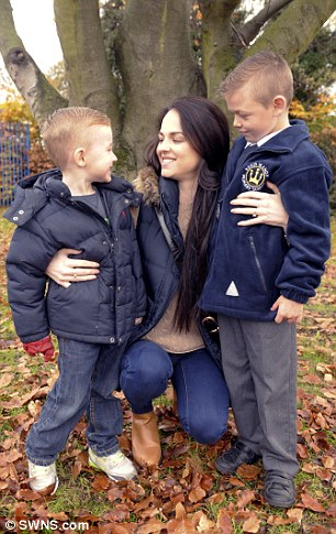 Miss Willett (left) is now calling for the national smear test age to be lowered. She has made a bucket list of things she wants to do before she dies, including taking her boys (right) to Disneyland Paris
