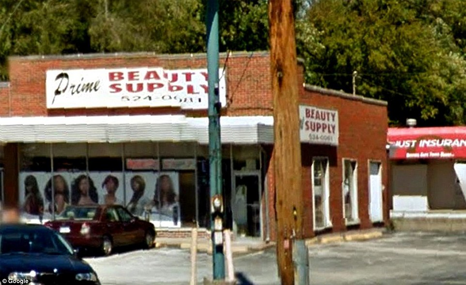 True beauty: A Google Street View snap from 2010 shows the shop in its original state