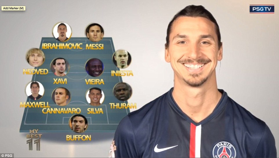Zlatan's team in full, complete with himself and Messi as a strike partnership, is formidable, but would it beat the alternative XI?