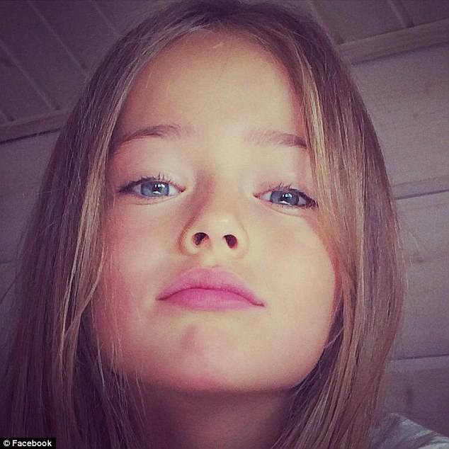Child star: She may only be ten, but she's been a hugely successful model and has now been signed with prestigious LA Models and moved to the US