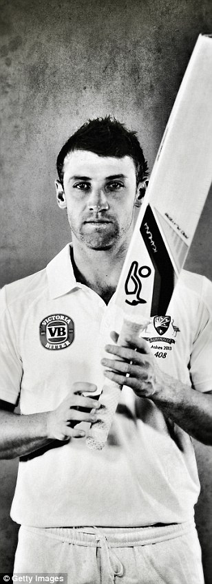 Hughes holds the highest percentage of runs scored by one man in a first class match
