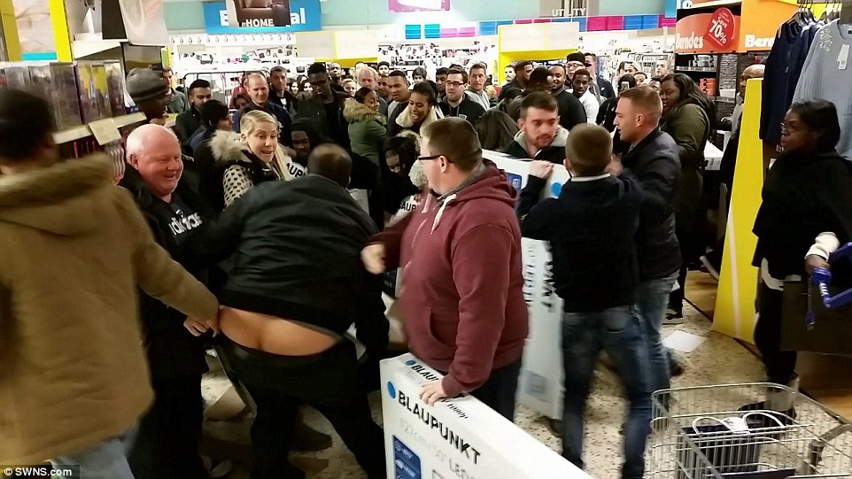 Black Friday Turns Violent As Shoppers Fight Over Bargains